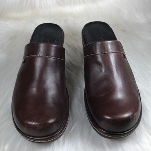 Ecco Leather Wedge Heel Clogs 👞 👟